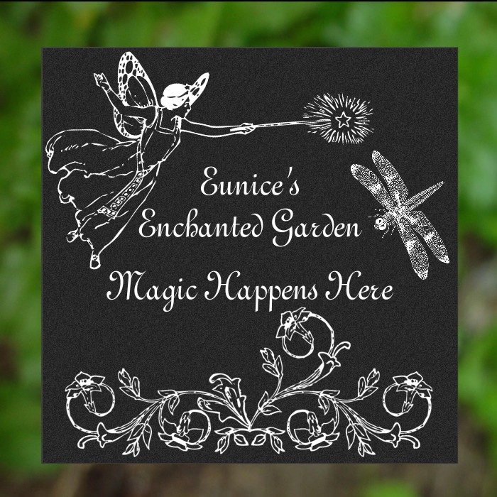 Customized Personalized Garden Stepping Stone Plaque Sign