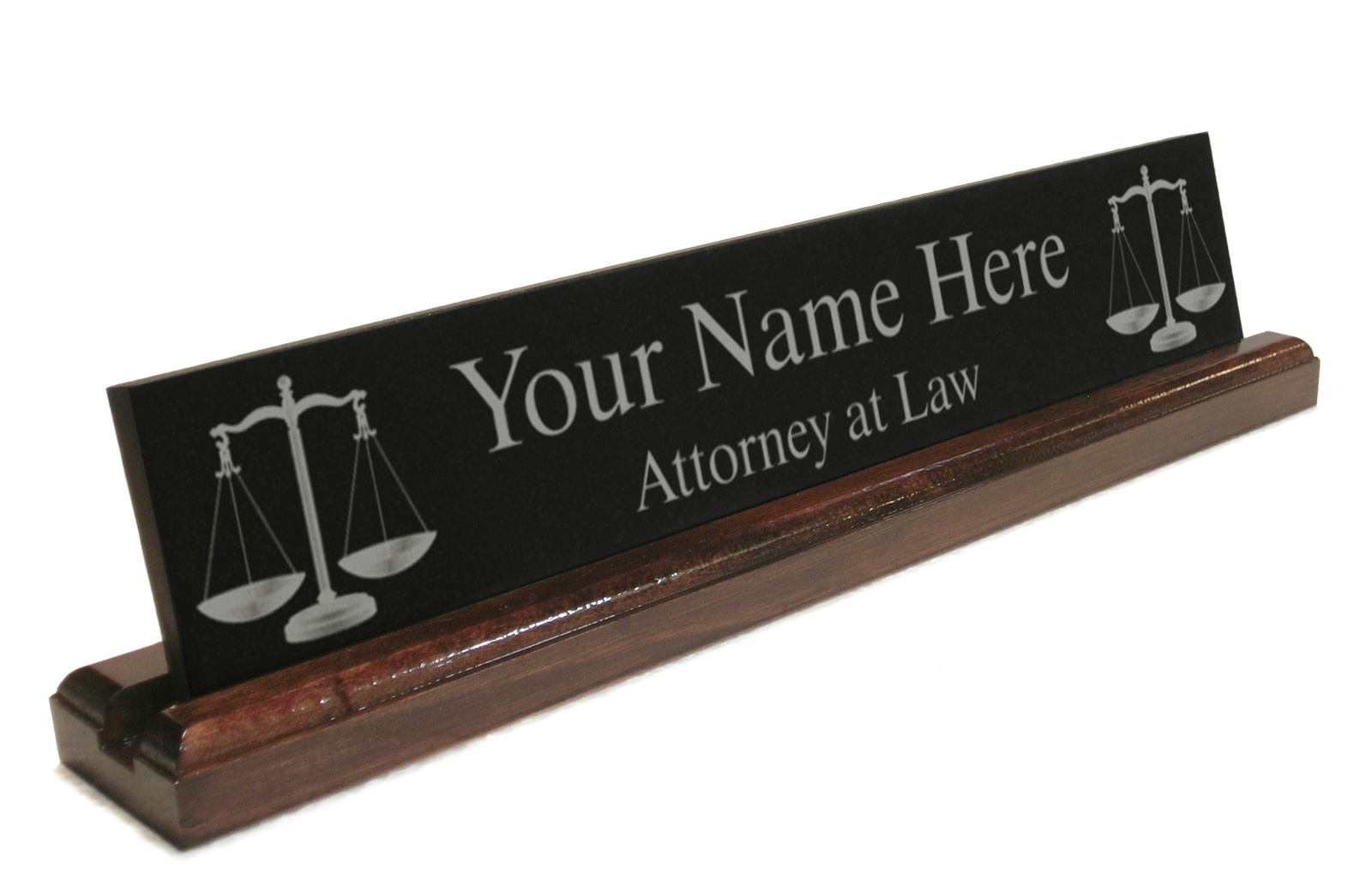 Name Plate: Personalized Attorney Lawyer Desk Name Plate Custom